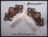 hair combs ~Butterfly Cameo~