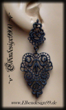 ear jewelry ~Black Lace~