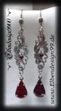 ear jewelry ~Garnet Drop~